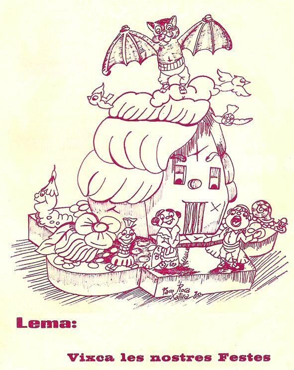 Esbòs Falla Infantil Any: 1981 - Lema: Visca les nostres festes