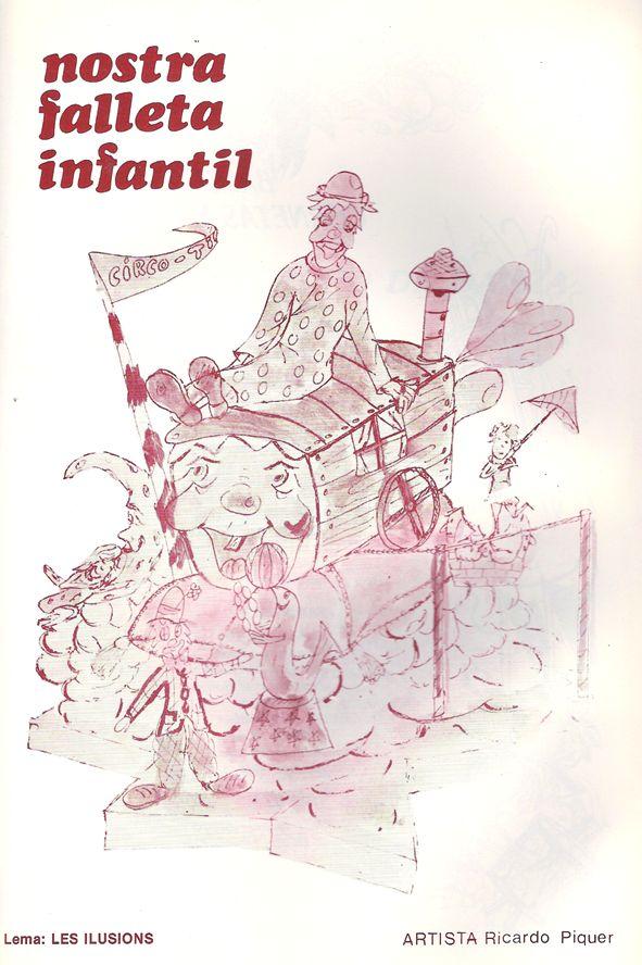 Esbòs Falla Infantil Any: 1985. Artista Faller: Ricardo Piquer - Lema: Les il·lusions