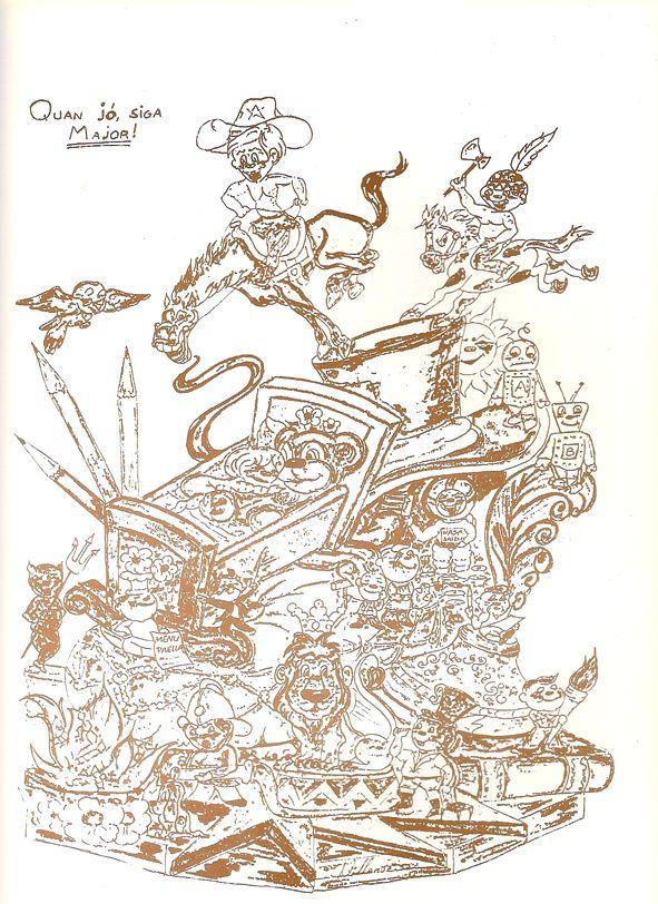 Esbòs Falla Infantil Any: 1989. Artista Faller: Carlos Villanueva - Lema: Quan jo siga major