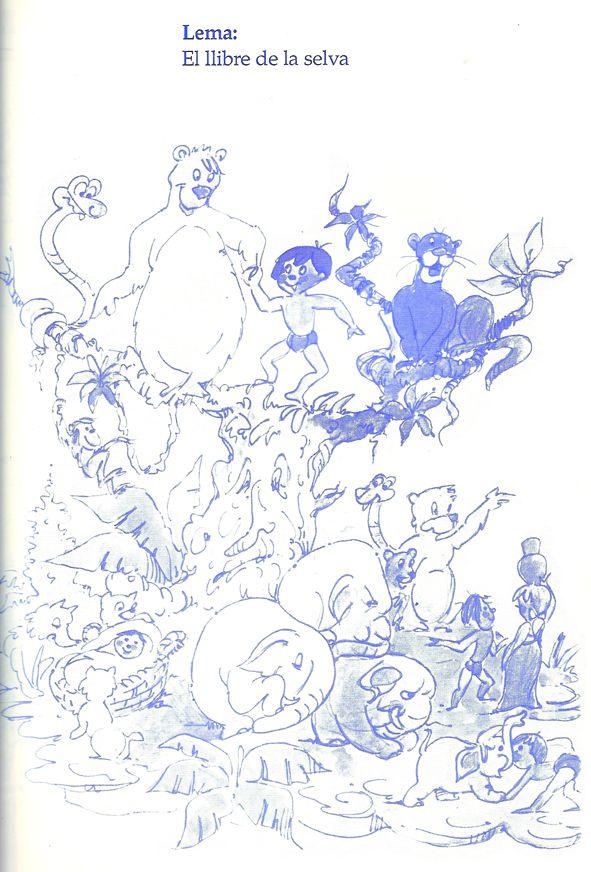Esbòs Falla Infantil Any: 1993. Artista Faller: Federico Contreras Castillo - Lema: El llibre de la selva