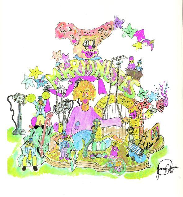 Esbòs Falla Infantil Any: 2000. Artista Faller: Juan Carlos Alonso - Lema: Marionetes