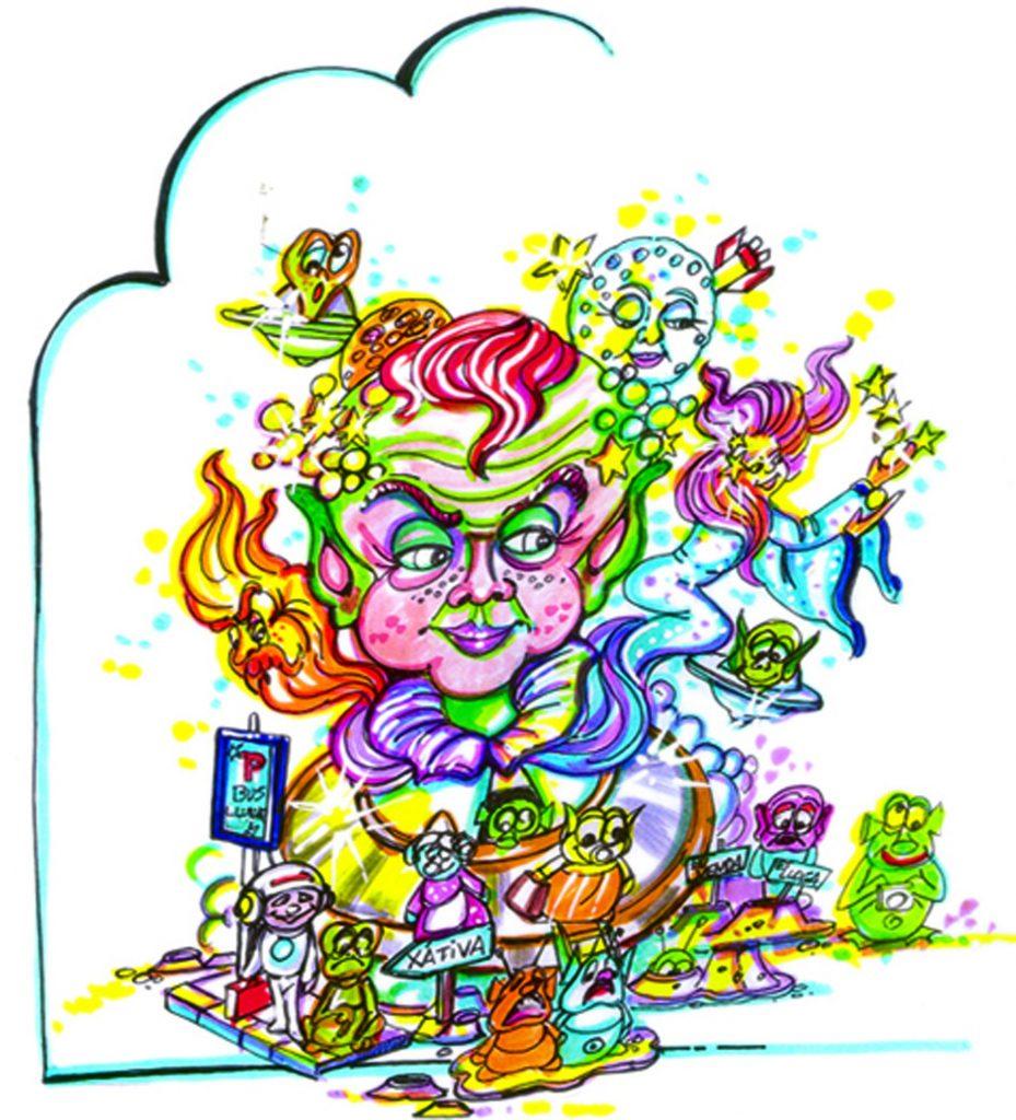 Esbòs Falla Infantil Any: 2007. Artista Faller: Enrique Oliver - Lema: De l'espai a la terra