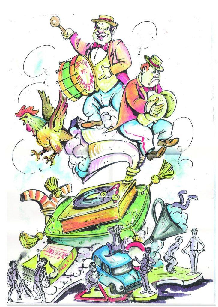 Esbòs Falla Gran Any: 2008. Artista Faller: Jesus Andreu - Lema: Xe quin empastre