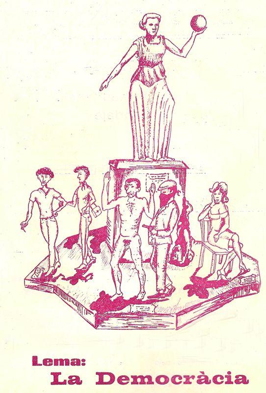 Esbòs Falla Gran Any: 1981 - Lema: La Democràcia