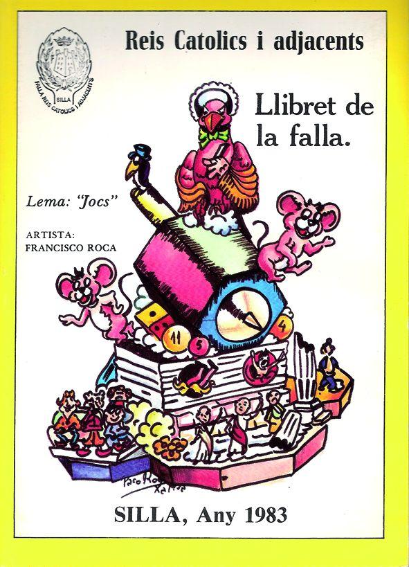 Esbòs Falla Gran Any: 1983. Artista Faller: Francisco Roca - Lema: Jocs