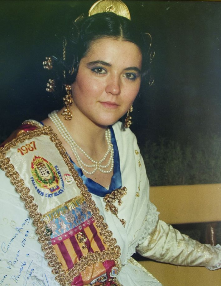 Fallera Major Any 1987: María Del Carmen Arenas Moreno