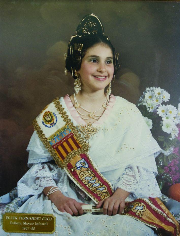 Fallera Major Infantil Any 1987: Esther Fernández Coco
