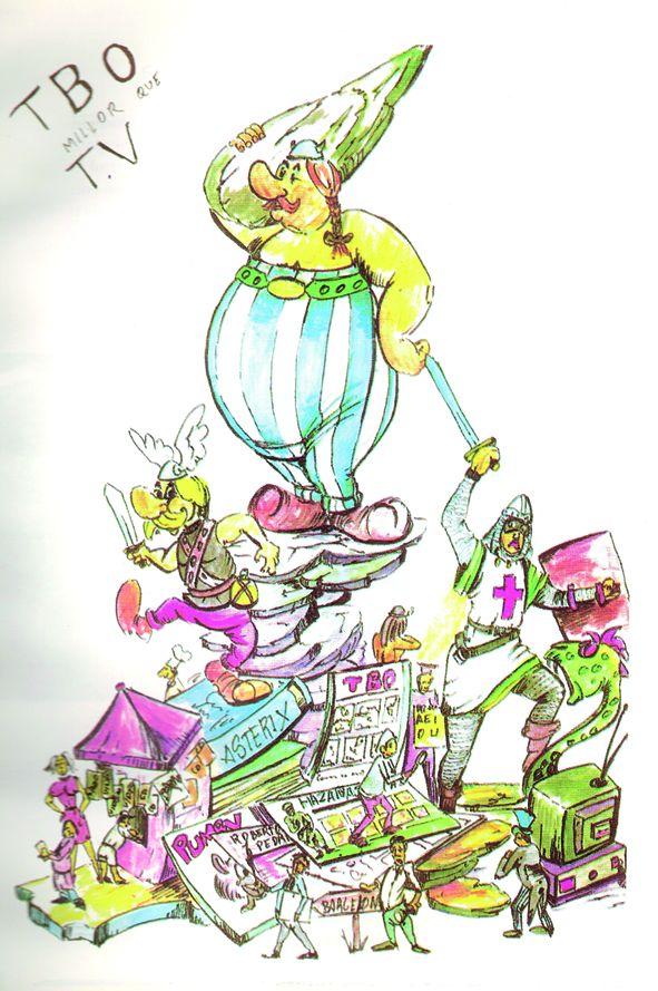 Esbòs Falla Gran Any: 1999. Artista Faller: Francisco Carrasco - Lema: TBO millor que TV