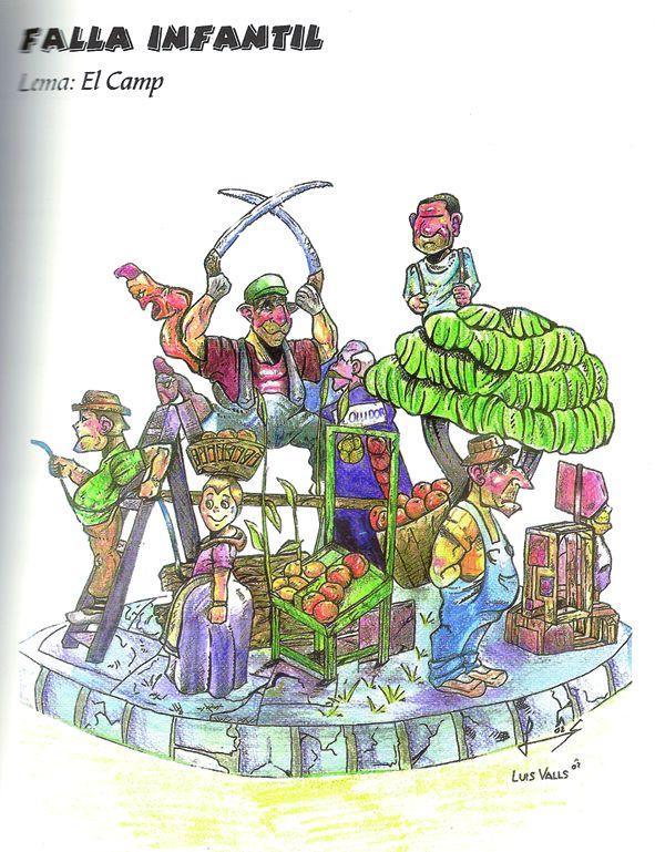 Esbòs Falla Infantil Any: 2003. Artista Faller: Enrique Oliver - Lema: El camp